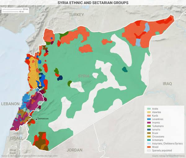 Savaş öncesi Suriye demografik haritası